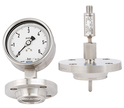 Measuring instruments with gasket-free BioControl® CS connection