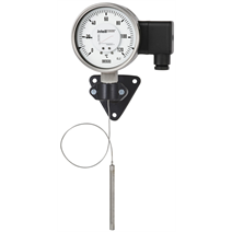 Expansion thermometer with electrical output signal